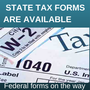 State tax forms available.  Federal forms on the way